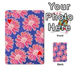 Pink Daisy Pattern Playing Cards 54 Designs  Front - Heart7