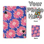 Pink Daisy Pattern Playing Cards 54 Designs  Front - Club4