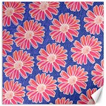 Pink Daisy Pattern Canvas 16  x 16   16 x16 Canvas - 1