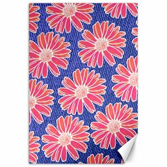 Pink Daisy Pattern Canvas 20  X 30   by DanaeStudio