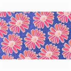 Pink Daisy Pattern Canvas 24  X 36  by DanaeStudio