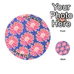 Pink Daisy Pattern Playing Cards 54 (Round)  Front - Joker1