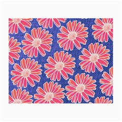 Pink Daisy Pattern Small Glasses Cloth (2 Side) by DanaeStudio