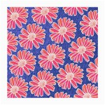 Pink Daisy Pattern Medium Glasses Cloth Front