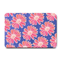 Pink Daisy Pattern Small Doormat  by DanaeStudio