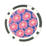Pink Daisy Pattern Poker Chip Card Guards