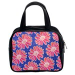 Pink Daisy Pattern Classic Handbags (2 Sides)