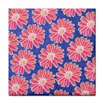 Pink Daisy Pattern Face Towel