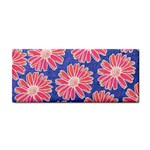 Pink Daisy Pattern Hand Towel Front