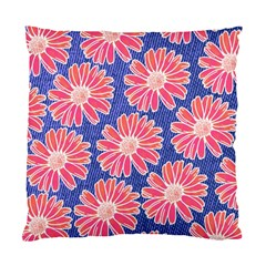 Pink Daisy Pattern Standard Cushion Case (one Side) by DanaeStudio