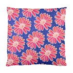 Pink Daisy Pattern Standard Cushion Case (Two Sides)