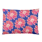 Pink Daisy Pattern Pillow Case