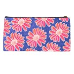 Pink Daisy Pattern Pencil Cases Back