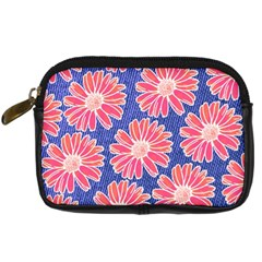 Pink Daisy Pattern Digital Camera Cases by DanaeStudio