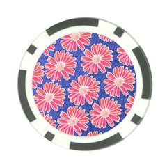 Pink Daisy Pattern Poker Chip Card Guards (10 Pack)  by DanaeStudio