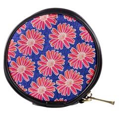 Pink Daisy Pattern Mini Makeup Bags