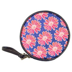 Pink Daisy Pattern Classic 20 Cd Wallets