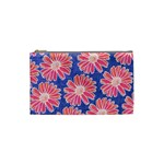 Pink Daisy Pattern Cosmetic Bag (Small)  Front