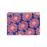 Pink Daisy Pattern Cosmetic Bag (Medium)  Front