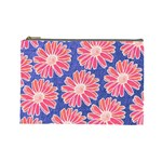 Pink Daisy Pattern Cosmetic Bag (Large)