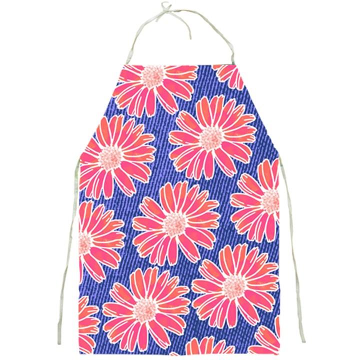 Pink Daisy Pattern Full Print Aprons