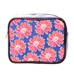 Pink Daisy Pattern Mini Toiletries Bags Front