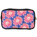 Pink Daisy Pattern Toiletries Bags Front