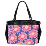 Pink Daisy Pattern Office Handbags (2 Sides)  Front