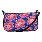 Pink Daisy Pattern Shoulder Clutch Bags Front