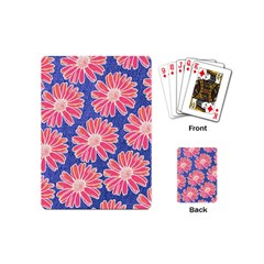 Pink Daisy Pattern Playing Cards (mini)  by DanaeStudio