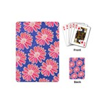 Pink Daisy Pattern Playing Cards (Mini)  Back