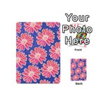 Pink Daisy Pattern Playing Cards 54 (Mini)  Back