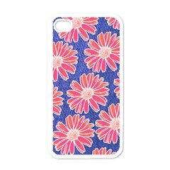 Pink Daisy Pattern Apple Iphone 4 Case (white) by DanaeStudio