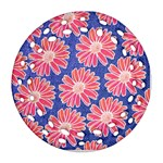 Pink Daisy Pattern Ornament (Round Filigree)  Front
