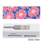 Pink Daisy Pattern Memory Card Reader (Stick)