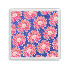 Pink Daisy Pattern Memory Card Reader (square)  by DanaeStudio