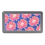 Pink Daisy Pattern Memory Card Reader (Mini) Front