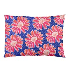Pink Daisy Pattern Pillow Case (two Sides) by DanaeStudio
