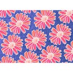 Pink Daisy Pattern Ribbon 3D Greeting Card (7x5) Front