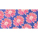 Pink Daisy Pattern ENGAGED 3D Greeting Card (8x4) Front