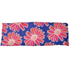 Pink Daisy Pattern Body Pillow Case Dakimakura (two Sides) by DanaeStudio