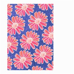 Pink Daisy Pattern Small Garden Flag (two Sides) by DanaeStudio