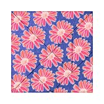 Pink Daisy Pattern Acrylic Tangram Puzzle (6  x 6 )