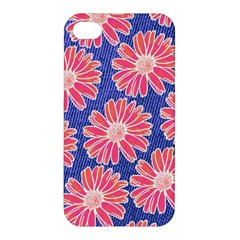 Pink Daisy Pattern Apple Iphone 4/4s Premium Hardshell Case by DanaeStudio