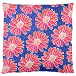 Pink Daisy Pattern Large Cushion Case (Two Sides)