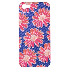 Pink Daisy Pattern Apple Iphone 5 Hardshell Case by DanaeStudio