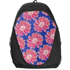 Pink Daisy Pattern Backpack Bag
