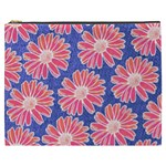 Pink Daisy Pattern Cosmetic Bag (XXXL)  Front