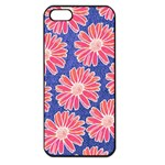 Pink Daisy Pattern Apple iPhone 5 Seamless Case (Black) Front