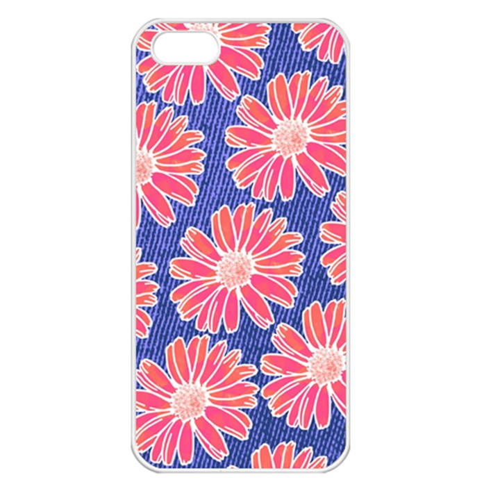 Pink Daisy Pattern Apple iPhone 5 Seamless Case (White)